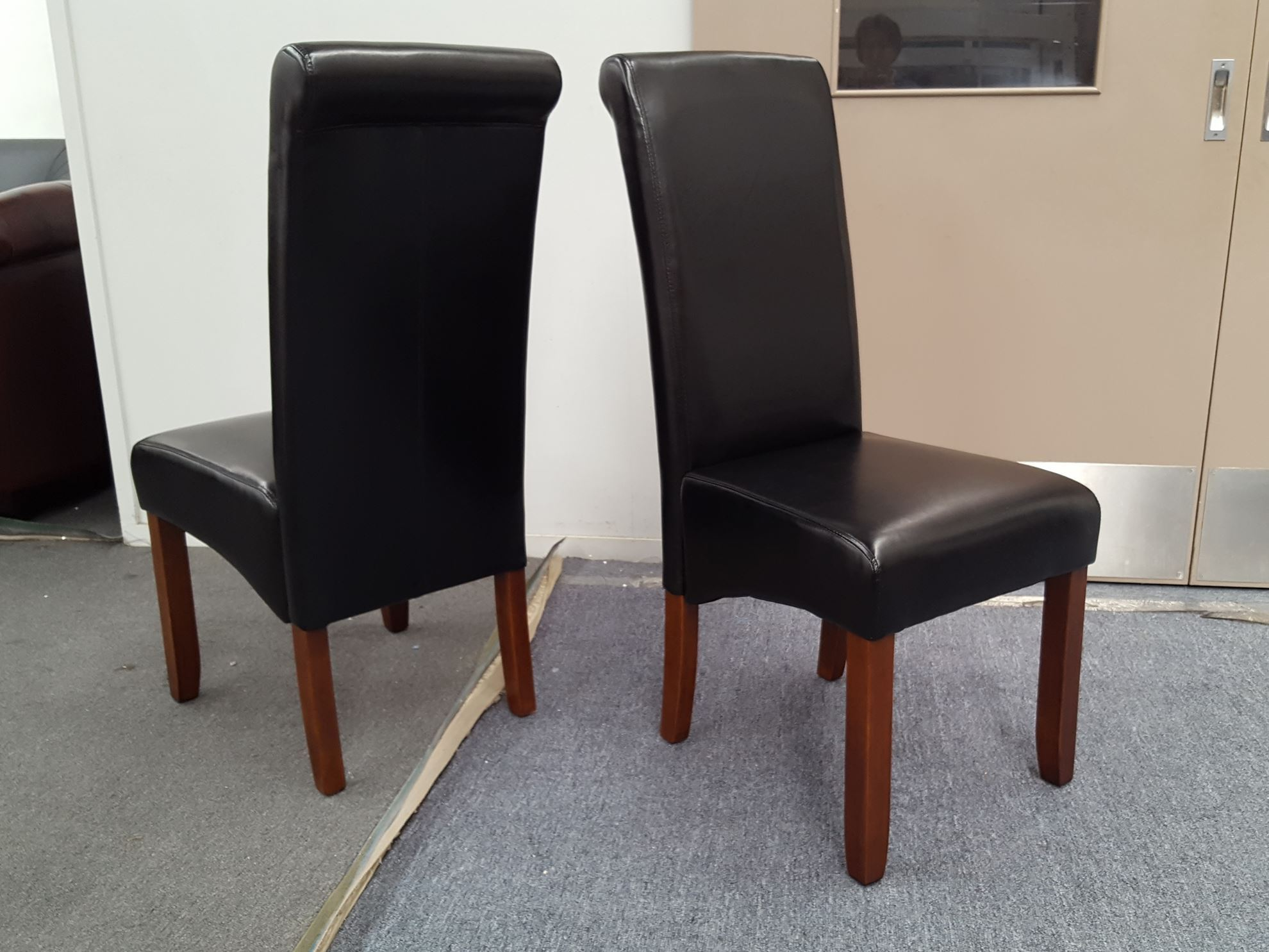 home dining living dining chairs vera dining chair in black pu