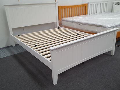 EDDIE QUEEN BED in WHITE