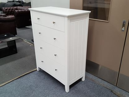 Picture of IVY 5X DRAWERS TALL BOY WHITE