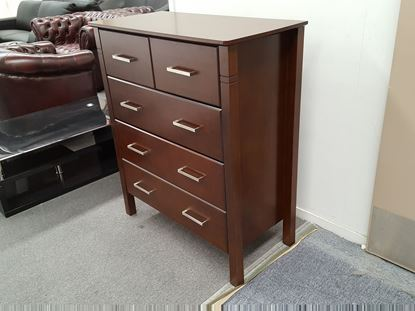 Picture of JESSICA 5X DRAWERS TALL BOY WENGE