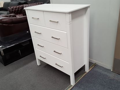 Picture of JESSICA 5X DRAWERS TALL BOY WHITE