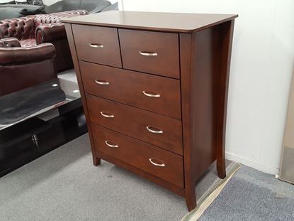 Picture of KIA 5X DRAWERS TALL BOY WENGE