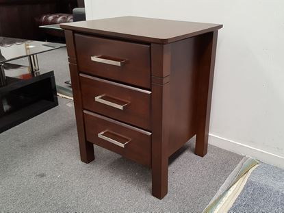 Picture of JESSICA 3X DRAWERS BEDSIDE TABLE WENGE