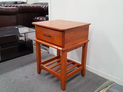 Picture of MATATA 1X DRAWER BEDSIDE TABLE ANTIQUE OAK