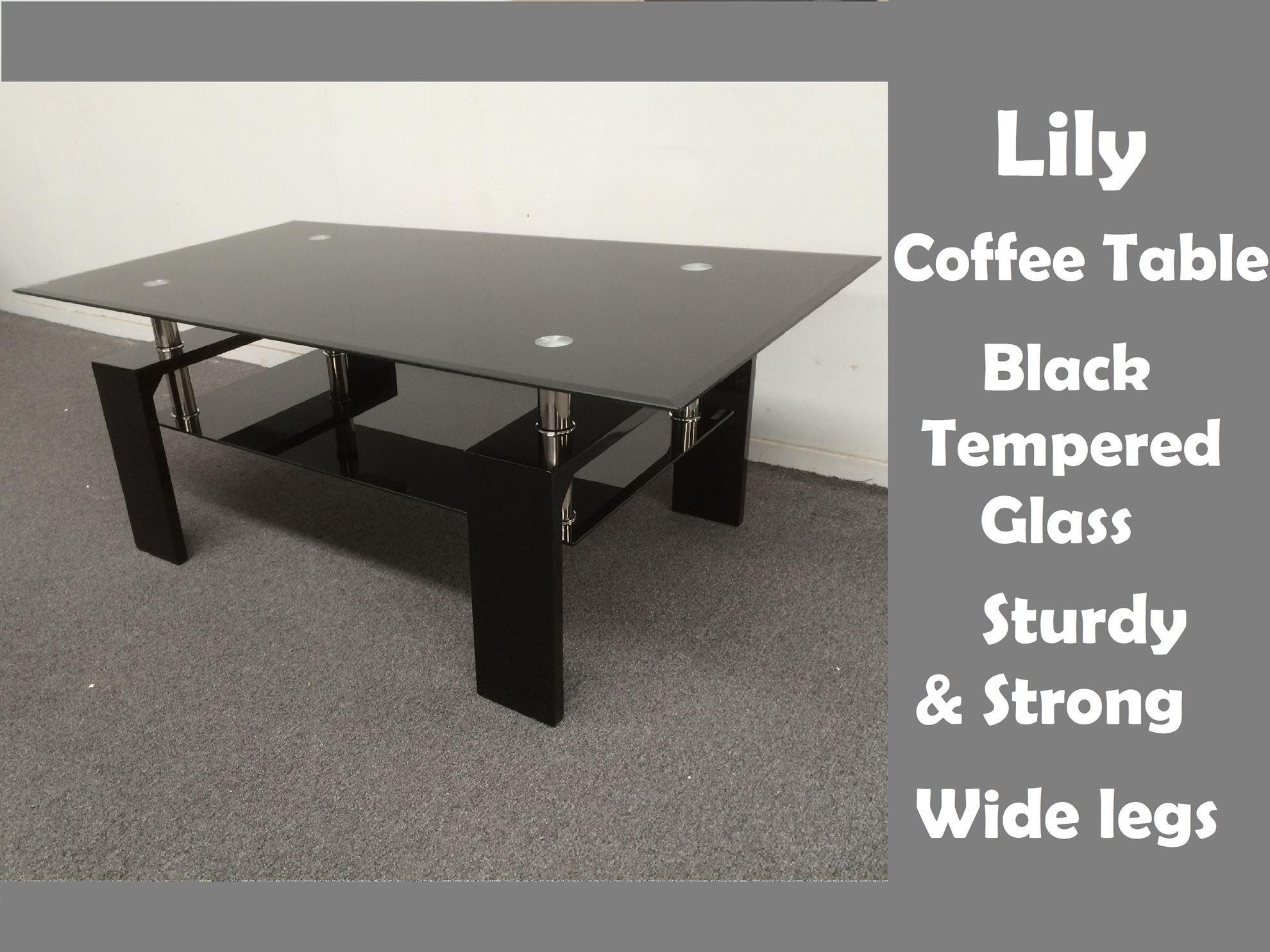 Black Tempered Glass Coffee Table Rascalartsnyc