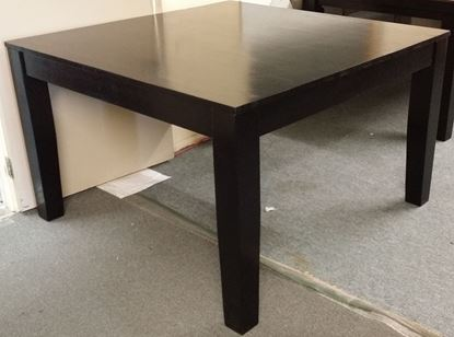 Picture of Square Wooden Dining Table in Black Colour- 1220mm x 1220mm
