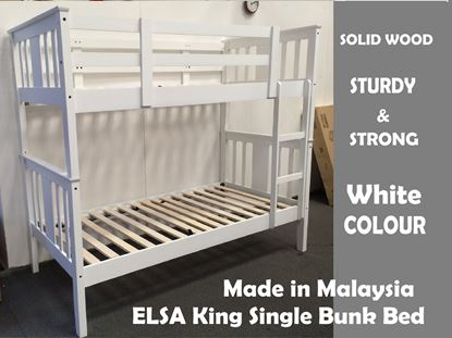 Picture of Elsa King Single Bunk Bed in White