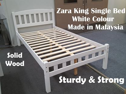 Picture of Zara King Single Bed in White