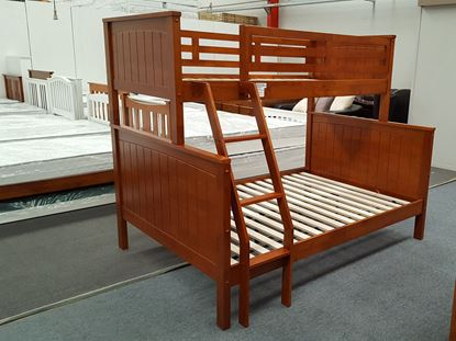 Picture of Emily Double-Single Bunk Bed in Antique Oak with 2x Mattresses