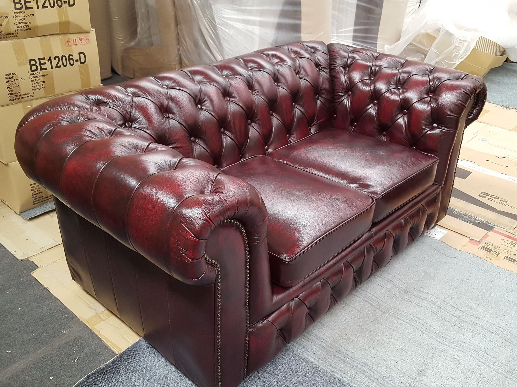 Furniture Place Fennel 2 Seater In Genuine Leather