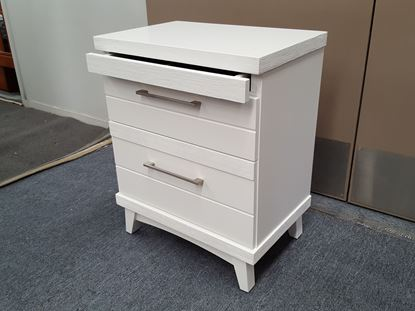 Picture of Bedside Table Katy 3 Drawer in White Colour