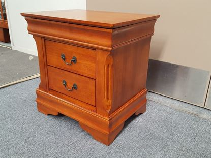 Picture of Bedside Table Anna 3 Drawer in Antique Oak Colour