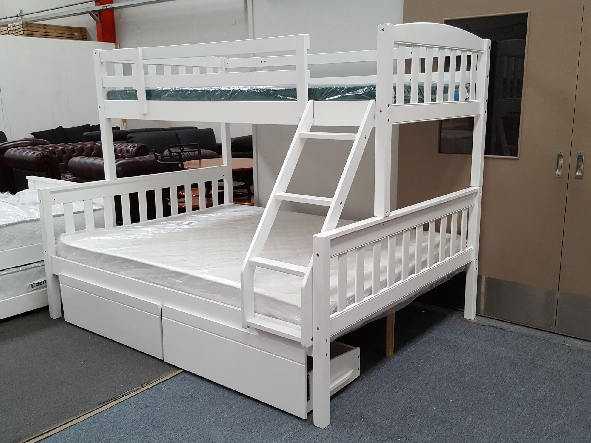 Furniture Place Miki Bunk Bed With Mattresses Queen King