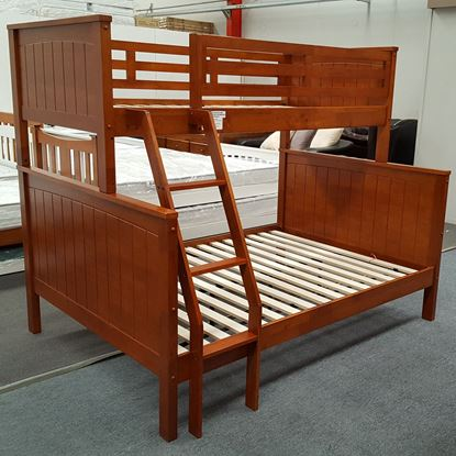 Picture of Emily Double Bunk Bed Solid Hardwood Antique Oak Colour Malaysian Made