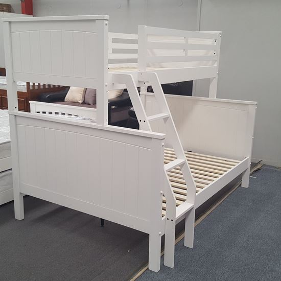 Picture of Emily Double Bunk Bed Solid Hardwood White Colour Malaysian Made