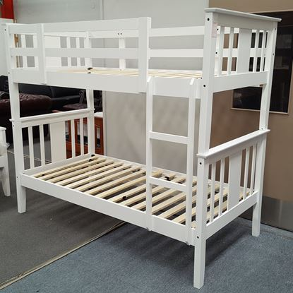 Picture of Holly Bunk Bed Single Solid Hardwood White Malaysian Made