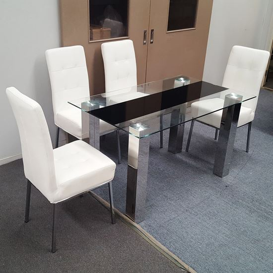 Picture of Levi Dining Table Tempered Glass 1300mm X 800mm (Table Only)
