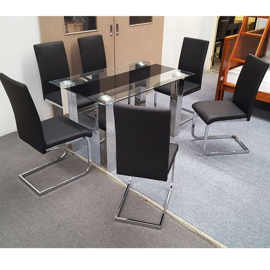 Picture of Levi Dining Table Tempered Glass 1500mm X 900mm (Table Only)