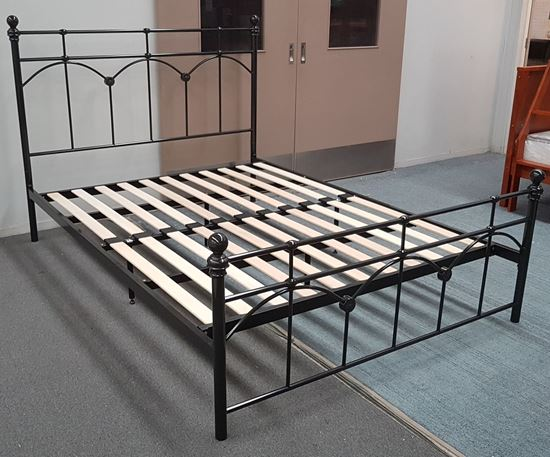 Picture of Jane Queen Bed Solid Construction Metal Platinum Colour Malaysian Made