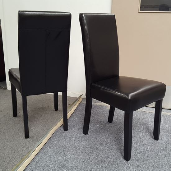 Picture of Zoe Dining Chair Black PU Leather Dark Legs