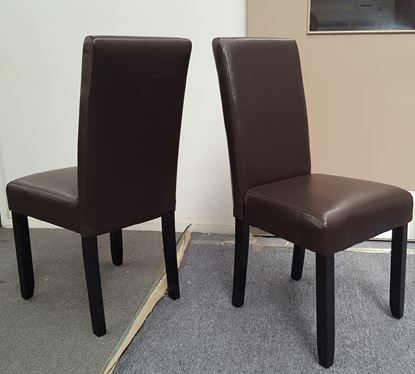 Picture of Zoe Dining Chair Brown PU Leather Dark Legs