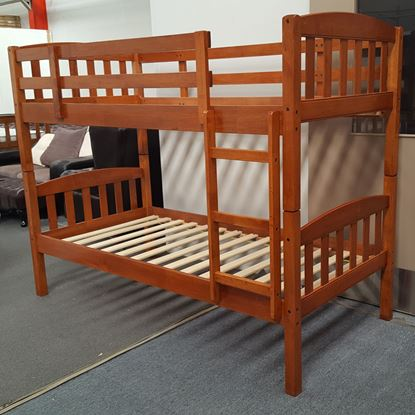 Picture of Miki King Single Bunk Bed Solid Hardwood Oak Malaysian Made
