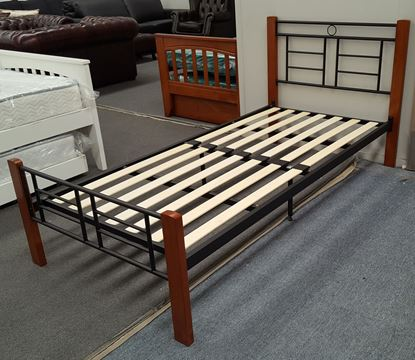Picture of Topaz  King Single Bed Solid Construction Oak Black Malaysian