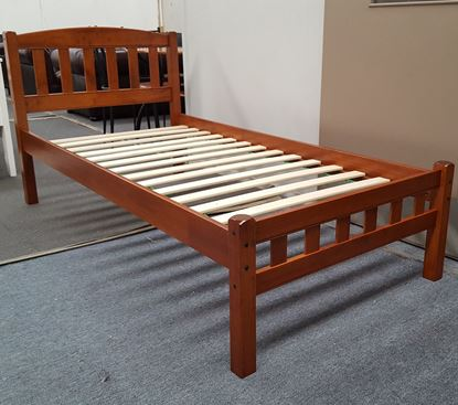 Picture of Miki Single Bed Solid Hardwood Antique Oak Malaysian Made
