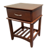 Picture of Matata Bedside Table 1 Drawer Semi Assembled Wenge Malaysian Made