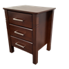 Picture of Jessica Bedside Table 3 Drawer Fully Assembled Luxurious Look Wenge Malaysian Made