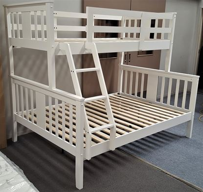 Picture of Holly Double Bunk Bed Solid Hardwood White Colour Malaysian Made