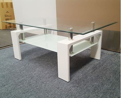 Picture of Lily Coffee Table Clear Tempered Glass (1100mmX600mm)