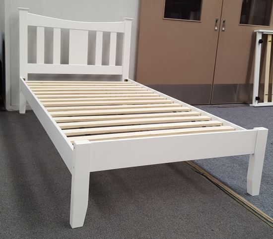 Picture of Hailee King Single Bed Solid Hardwood White Malaysian Made