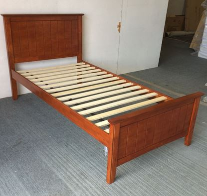 Picture of Eddie Single Bed Solid Hardwood Oak Malaysian Made