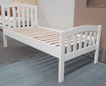 Picture of Blake Single Bed Adjustable Base Height White Malaysian Made