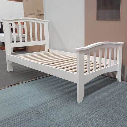 Picture of Taylor Single Bed Solid Hardwood White Malaysian Made