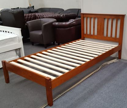 Picture of Grace King Single Bed Solid Hardwood Oak Malaysian Made