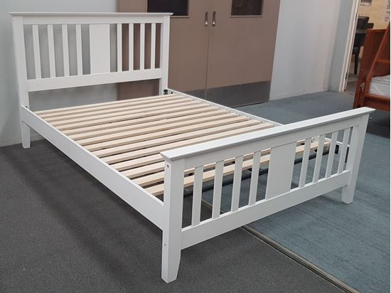 Picture of Holly Double Bed Solid Hardwood White Malaysian Made